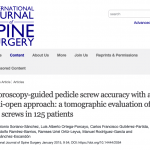 Fluoroscopy-guided pedicle screw accuracy with a mini-open approach: a tomographic evaluation of 470 screws in 125 patients