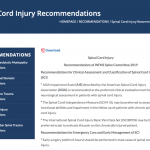 Spinal Cord Injury Recommendations