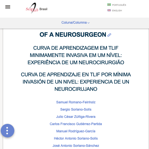 Learning Curve In Single-level Minimally Invasive Tlif: Experience Of A Neurosurgeon