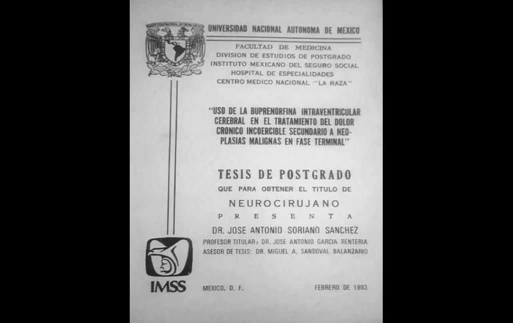 Tesis de Postgrado de Neurocirugia del Dr Soriano en 1993